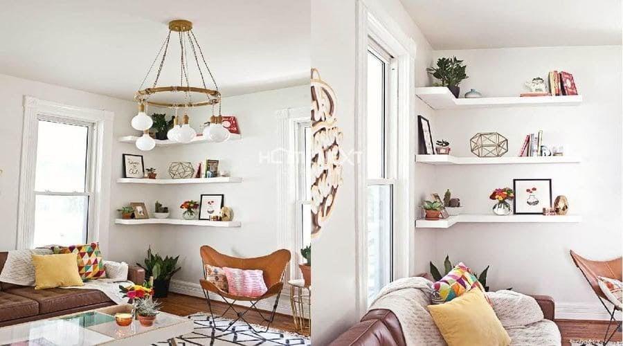 Góc phòng cũng trở thành thư viện mini trong những ngày làm việc tại nhà