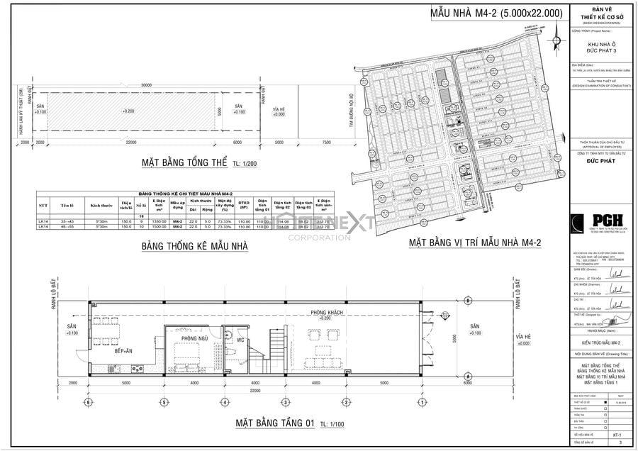 Mẫu thiết kế nhà Đức Phát 5x22