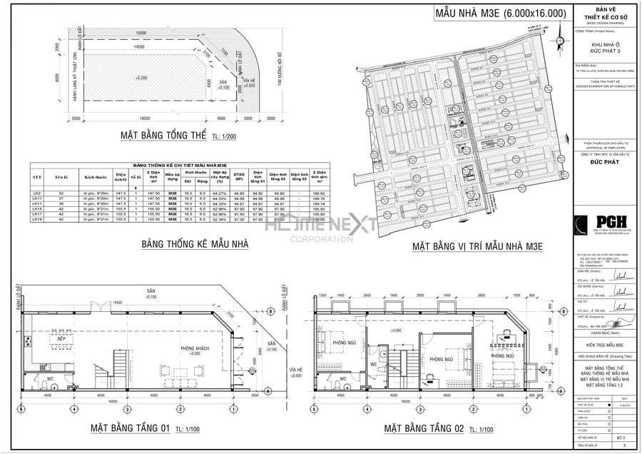 Mẫu thiết kế nhà Đức Phát 6x16