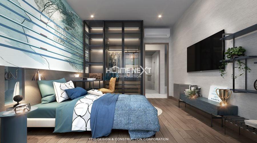 Mẫu thiết kế căn hộ 3 phòng ngủ sang trọng đẳng cấp