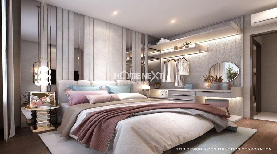 Không gian căn hộ 2 phòng ngủ tại dự án The Rivana Bình Dương