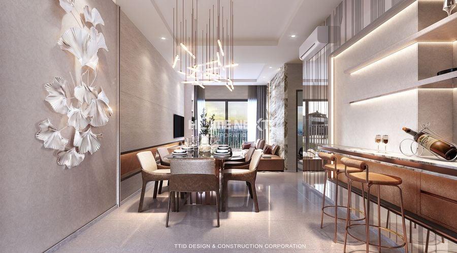 Thiết kế căn hộ không gian mở rộng rãi, thoáng mát