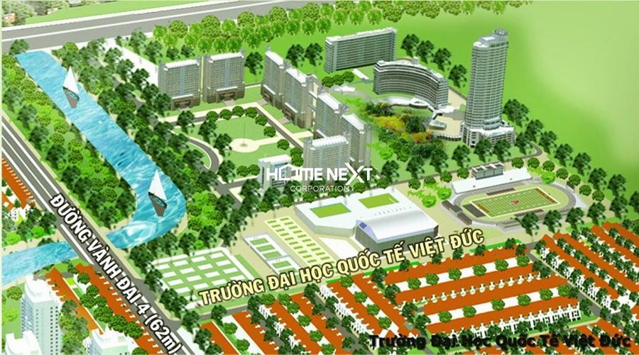 thịnh gia tower cảnh trường ĐH quốc tế Việt Đức