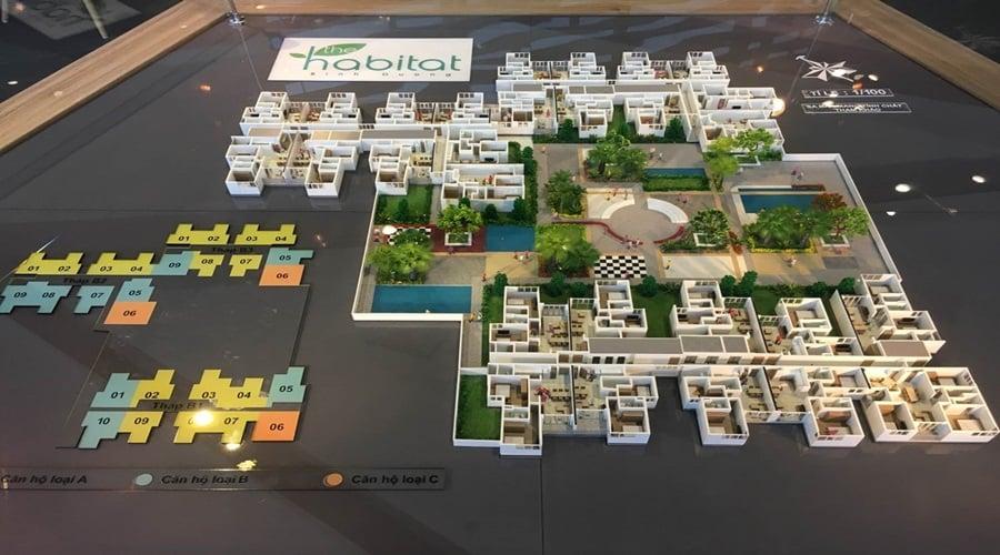 Mô hình tổng thể dự án The Habitat Bình Dương