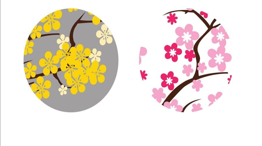 Hoa mai và hoa đào ngày Tết