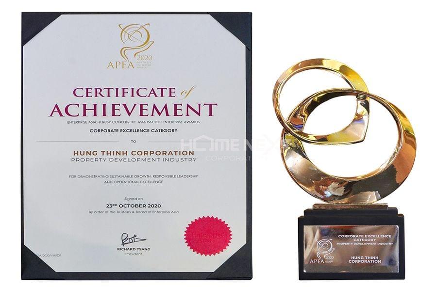 Hưng Thịnh vinh danh giải Doanh nghiệp Việt Nam xuất sắc Châu Á 2020