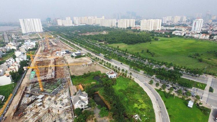 Các dự án chỉ được xây dựng sau khi có quy hoạch chi tiết tỉ lệ 1/500. Trong ảnh là một góc khu đô thị mới Thủ Thiêm - Ảnh: Tuổi Trẻ