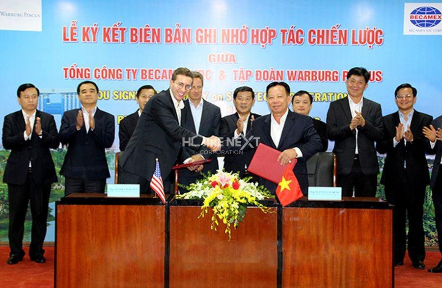 Lễ ký kết giữa Becamex IDC và tập đoàn Warburg Pincus