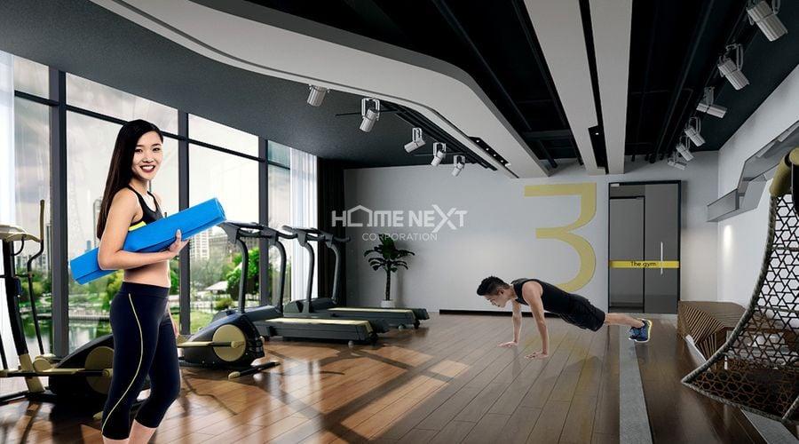 Tiện ích phòng Gym dự án Tecco Home An Phú