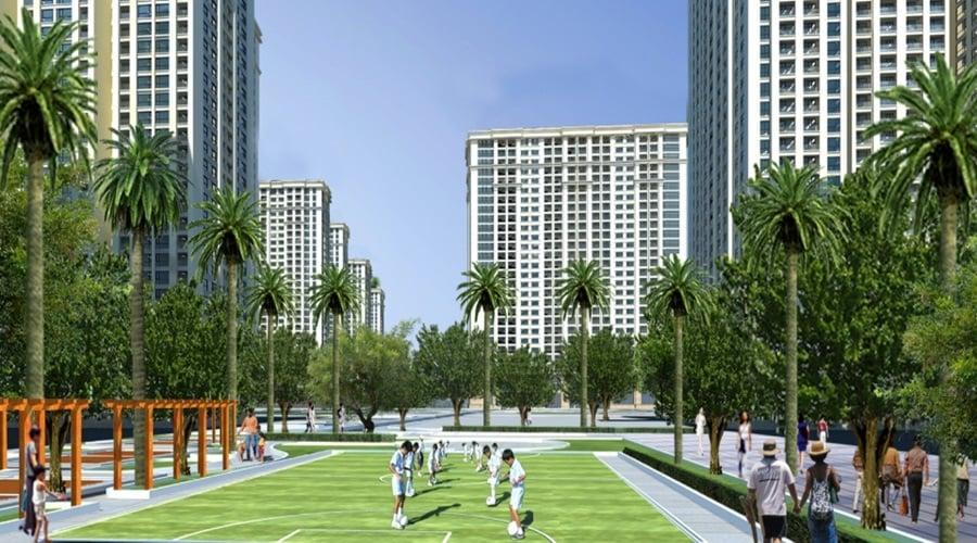 Sân thể thao căn hộ The Habitat kết hợp không gian xanh tươi mát-1