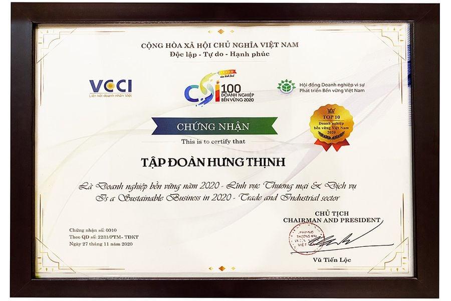 Top 10 doanh nghiệp bền vững tại Việt Nam năm 2020