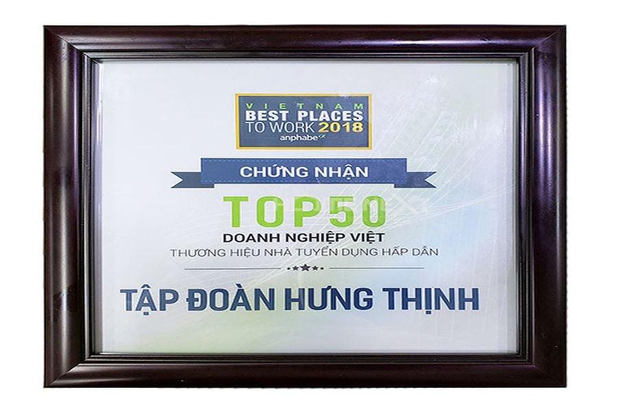Top 50 doang nghiệp Việt có thương hiệu tuyển dụng hấp dẫn 2018