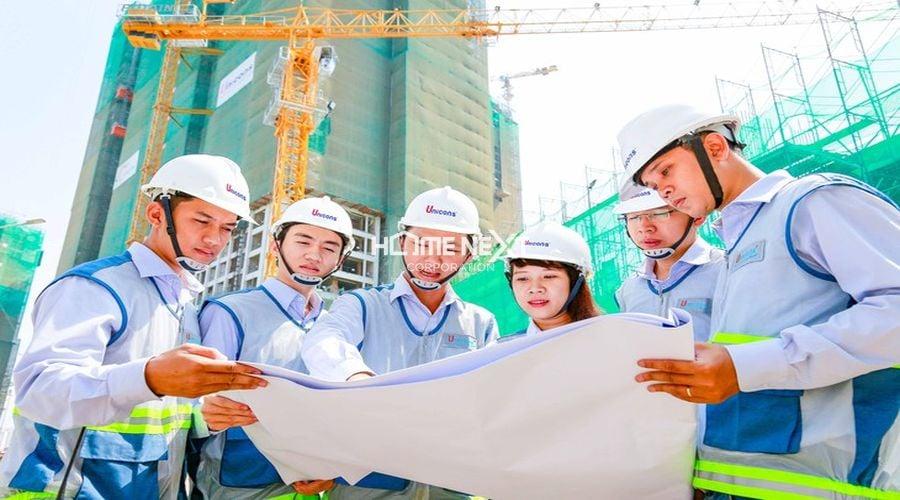 Đội ngũ nhân viên tổng thầu xây dựng Unicons