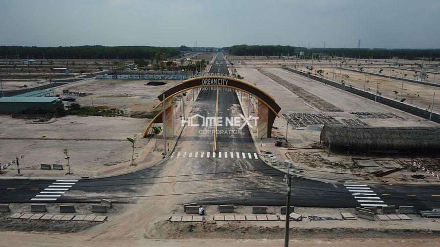 Hình ảnh thực tế cổng KDC Đức Phát 3 - Dream City