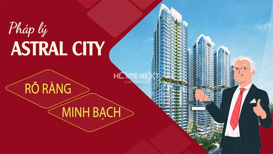 Pháp lý dự án minh bạch, rõ ràng của dự án chung cư cao cấp Astral City