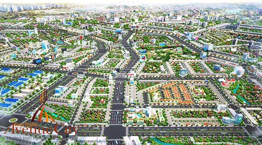toàn cảnh dự án Avenue City