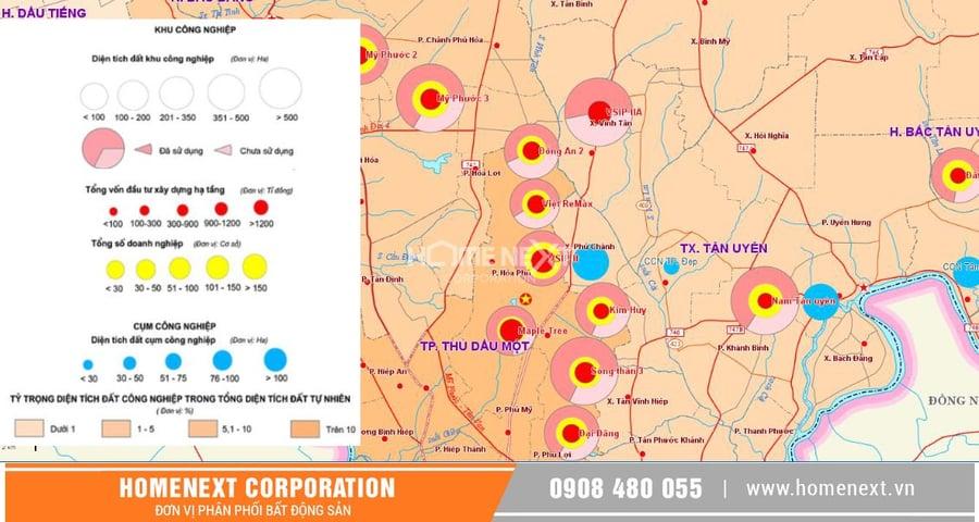 thị xã tân uyên bình dương có bao nhiêu khu công nghiệp