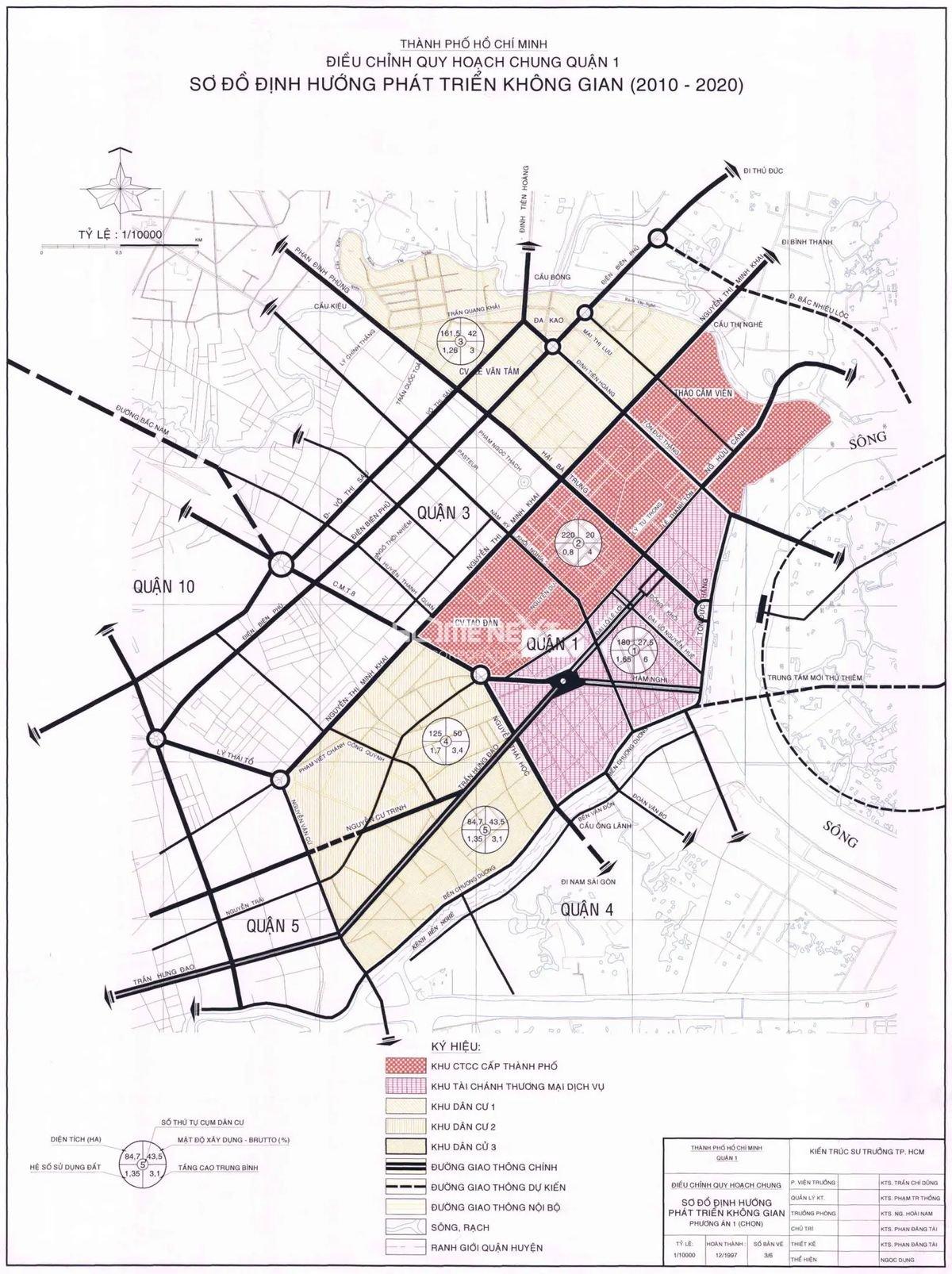 Bản đồ quy hoạch chung quận 1, thành phố Hồ Chí Minh