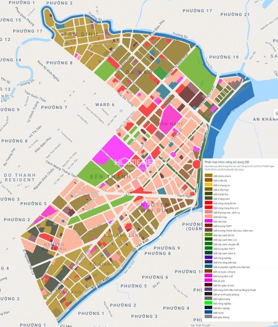 Bản đồ quy hoạch sử dụng đất Q.1 TP HCM
