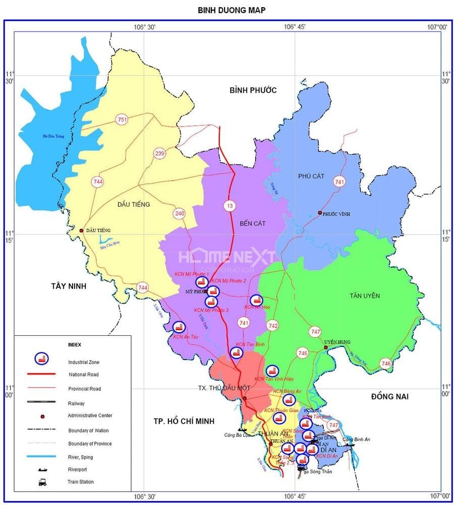 Bản đồ quy hoạch tỉnh Bình Dương