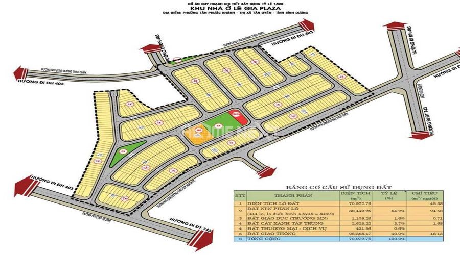Bản đồ quy hoạch dự án nhà phố The Standard