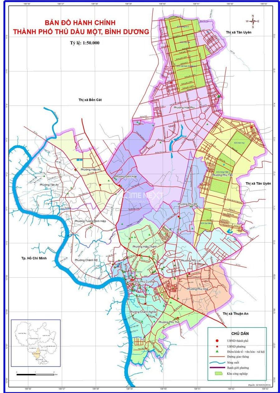 bản đồ thành phố thủ dầu một