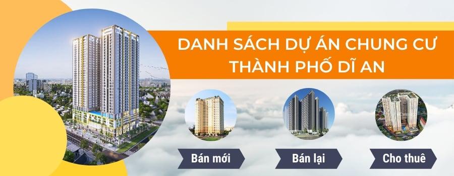 danh sách dự án chung cư thành phố dĩ an