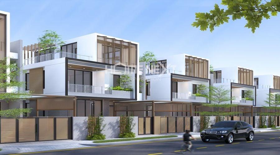 Phối cảnh biệt thự đơn lập dự án nhà phố Takara