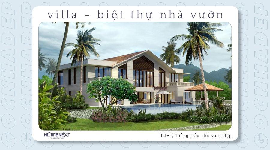 Villa sang chảnh mang cảm giác mát mẻ như đang ngoài bãi biển du ngoạn