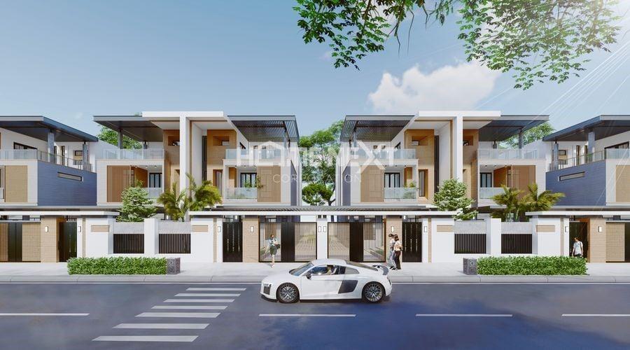 Phối cảnh mẫu biệt thự song lập dự án nhà phố Takara