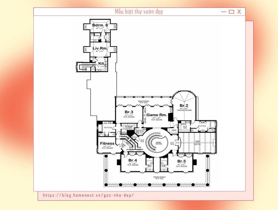 Bản vẽ thiết kế biệt thự