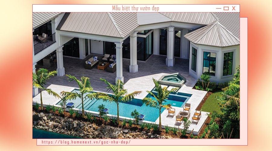 Khu hồ bơi lớn cho gia đình có những phút giây thư giãn, tránh nóng ngày hè