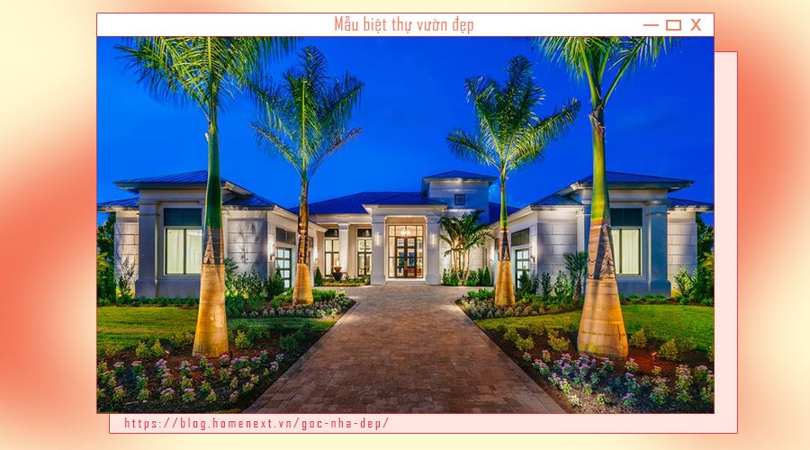 Thiết kế dạng đối xứng giúp cho căn nhà trở nên tuyệt mỹ