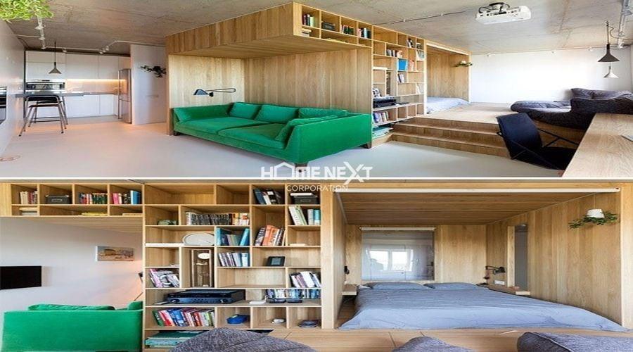 Bố trí không gian hợp lý cho căn phòng có diện tích nhỏ