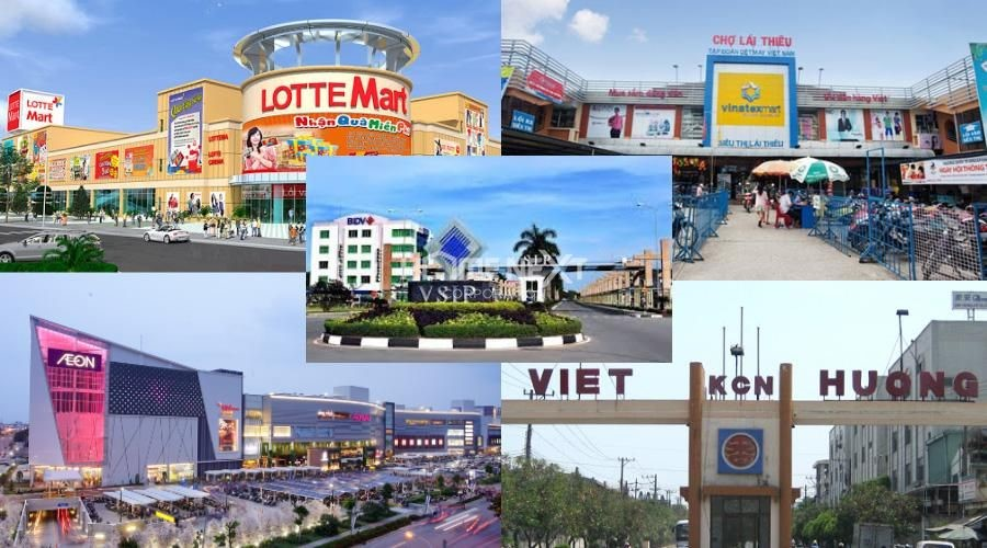 Thành phố Thuận An có nhiều cụm công nghiệp, siêu thị, chợ có quy mô lớn