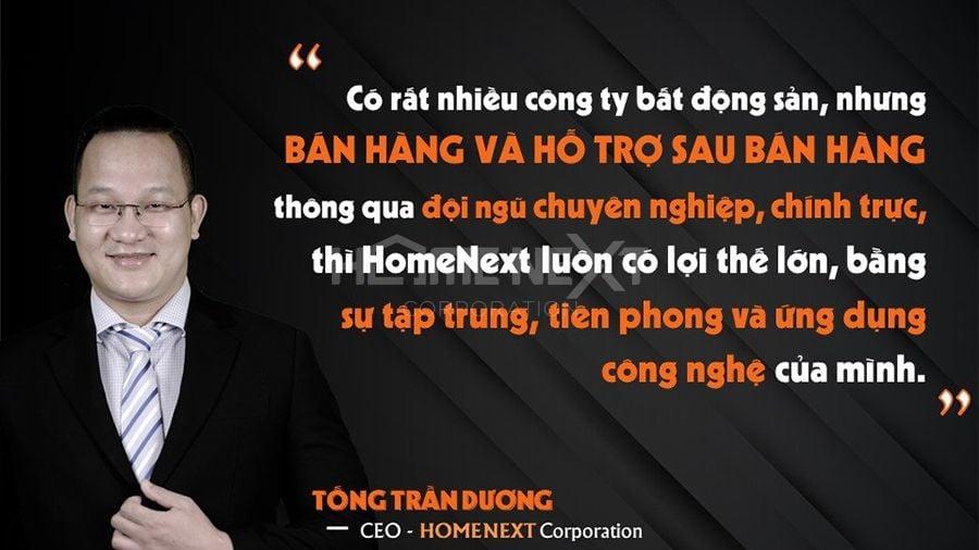 giám đốc công ty HomeNext chia sẻ