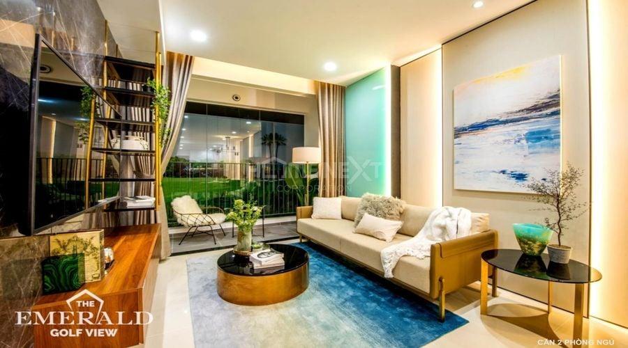 Phòng khách The Emerald nhỏ nhưng thiết kế vô cùng tinh tế