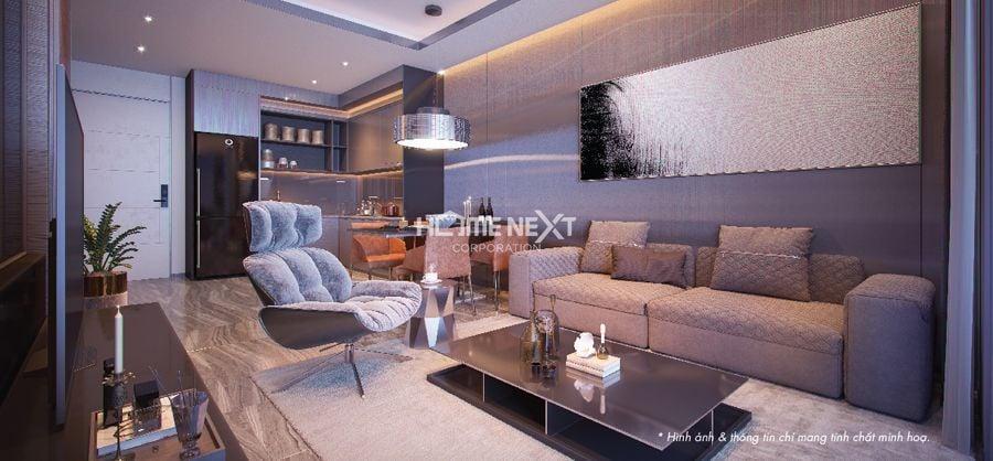 Phòng khách sang trọng với tông màu trung tính