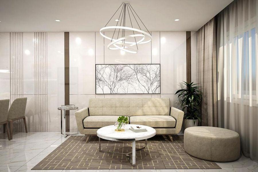 Phòng khách căn Duplex Techport City