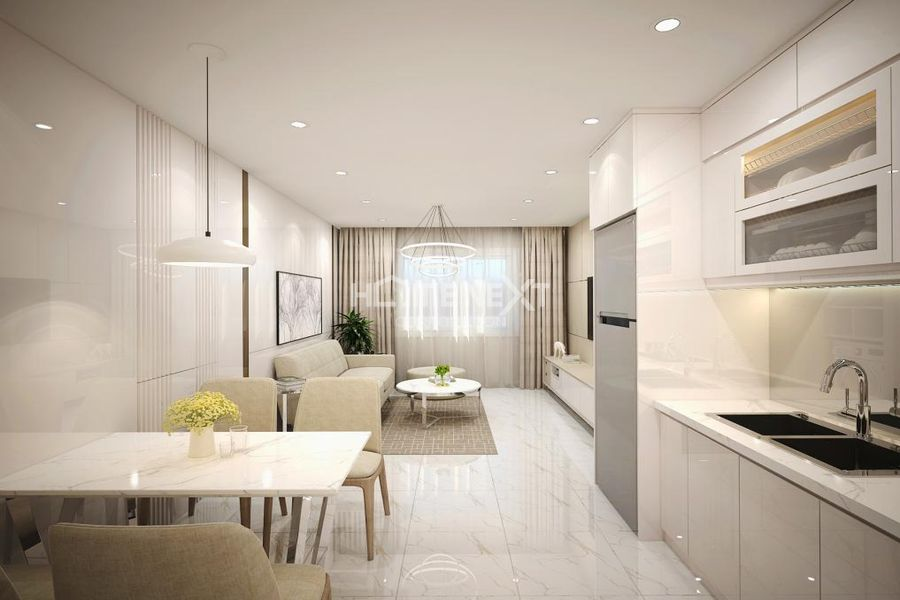 Khu vực phòng bếp, ăn uống trong căn hộ Duplex
