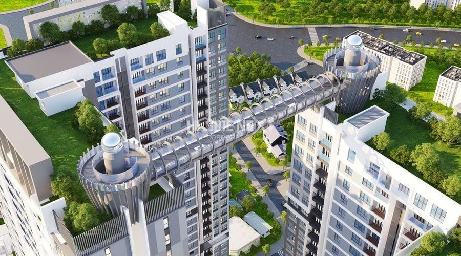 Cầu đi bộ trên đỉnh 2 tòa tháp nối với nhau sẽ là điểm thu hút khách hàng
