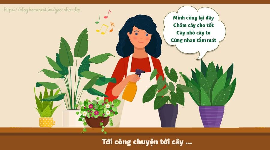 cách chăm sóc cây xanh