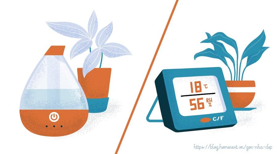 nhiệt độ và độ ẩm cây trồng