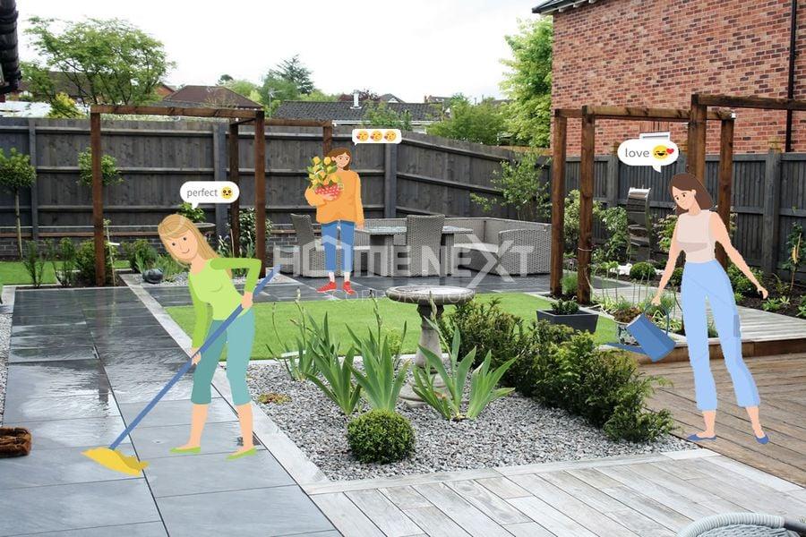 Chăm sóc sân vườn nhà