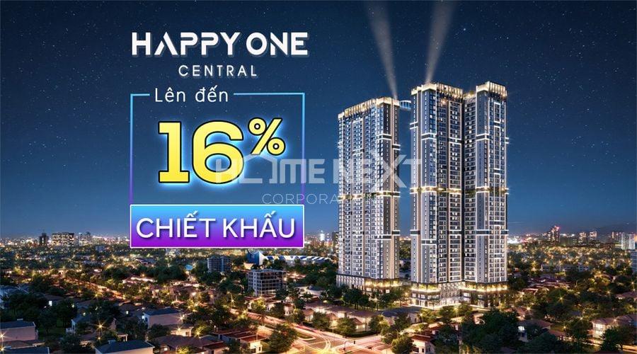 Happy One Central có nhiều chương trình ưu đãi dành cho khách hàng lên đến 16%
