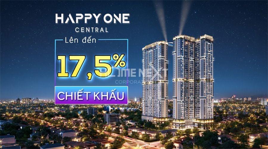 chương trình ưu đãi mua Happy One Central với tổng mức chiết khấu lên đến 17,5%