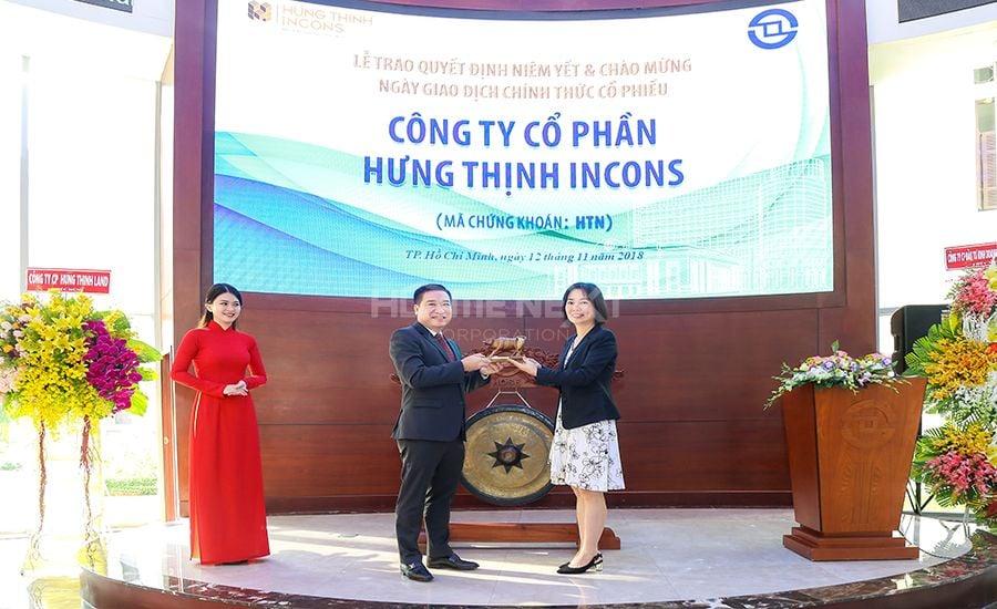 Hưng Thịnh Incons chính thức niêm yết cổ phiếu trên sàn giao dịch HOSE
