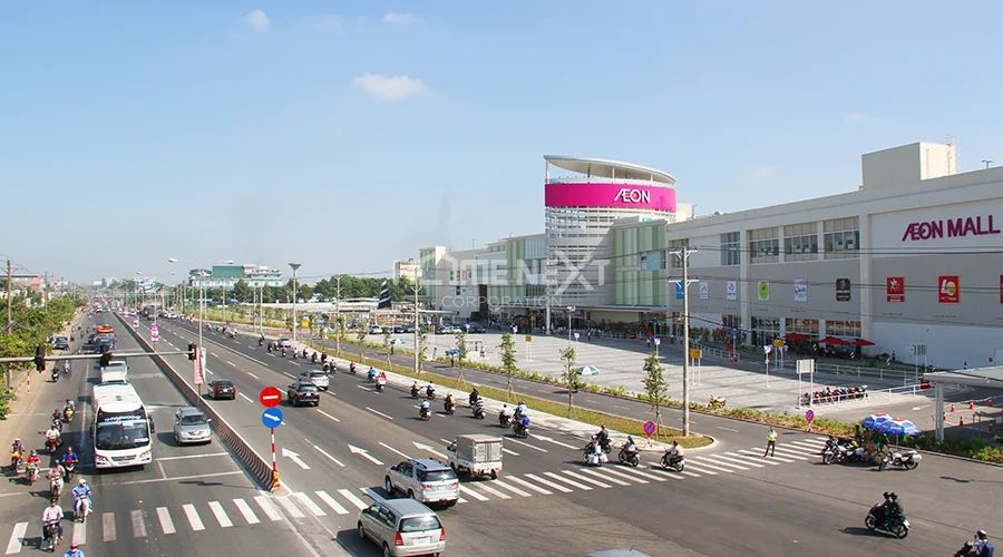 Dự án nằm liền kề siêu thị AEON Bình Dương