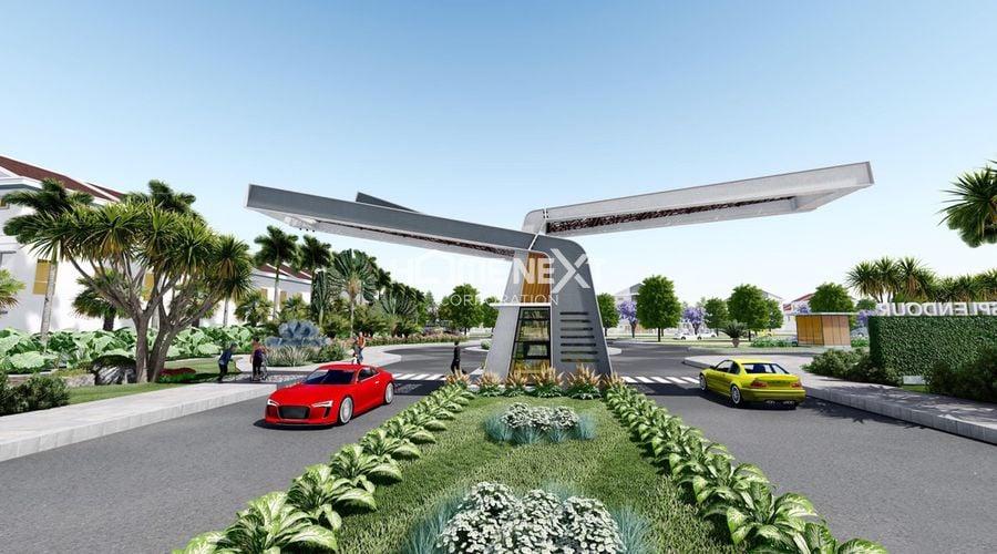 Cổng chào khu nhà phố Vườn Thiên Đàng EcoLakes 2