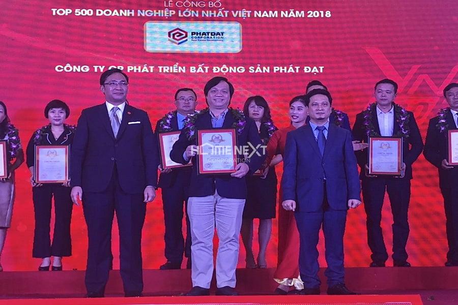 """Công ty Phát Đạt vinh danh trong """"Top 500 doanh nghiệp lớn nhất tại Việt Nam năm 2018"""""""